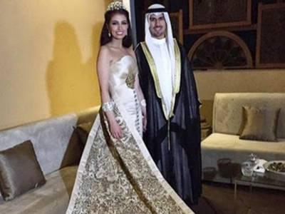 عرب دنیا میں شاہی شادی ،دولہا دلہن تو ایک طرف مہمانوں پر بھی ہیروں کی بارش