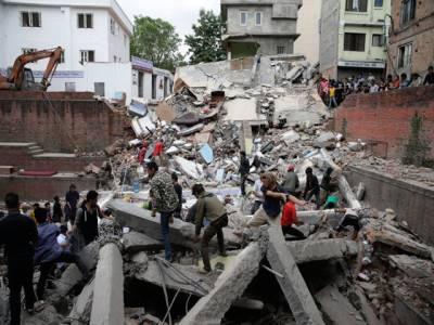 نیپال میں آنیوالے زلزلے کے ہولناک مناظر
