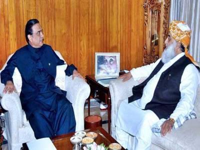 آصف زرداری اور مولانا فضل الرحمان کی ملاقات ، اہم معاملات پر بات چیت
