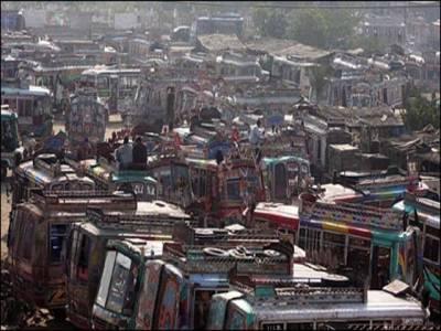 ٹرانسپورٹرز کا کراچی میں 25کو ہڑتال کرنے کا اعلان