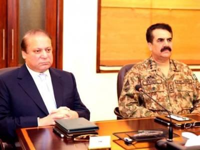 وزیراعظم کی زیرصدارت عسکری و سول قیادت کا اجلاس ، سیکیورٹی صورتحال ، ضرب عضب پر تبادلہ خیال
