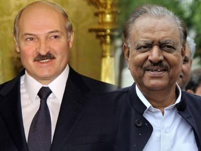 بیلاروس کے صدر کا دورہ پاکستان ، صدر ممنون حسین سے ملاقات