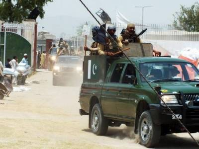 افغان بارڈر کے قریب سیکیورٹی فورسز سے جھڑپ ، کمانڈروں سمیت 19شدت پسند ہلاک ، سات اہلکار شہید
