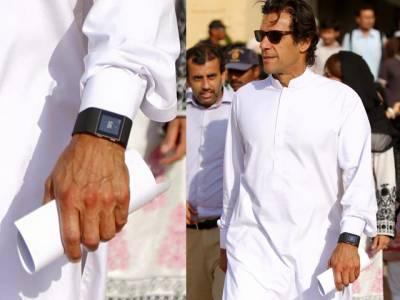 عمران خان نے بھی فٹنس ٹریکنگ کیلئے سمارٹ واچ پہن لی