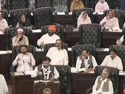 خیبر پختو نخواہ کے مالی سال 2015 - 16کا 488ارب حجم کا بجٹ پیش ،سرکاری ملازمین کی تنخواہوں میں 10فیصد اضافہ ،پشاور کیلئے 29ار ب روپے کے خصوصی پیکج کا اعلان