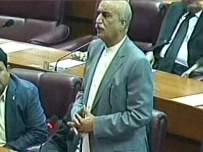 وزیرپانی وبجلی کے بیان پراپوزیشن لیڈر برہم ،بنئے کی لال کتاب چھوڑیں ، دھمکیاں مت دیں ، بجلی کا وعدہ پورا کریں : خورشید شاہ