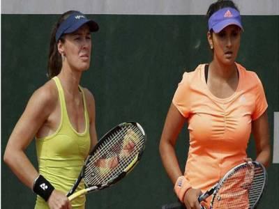 بھارتی ٹینس سٹار ثانیہ مرزا اور ان کی ساتھی مارٹینا ہنگز ایسٹ بورن اوپن ٹورنامنٹ کا سیمی فائنل ہار گئیں