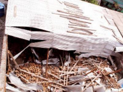بارش سے مکان کی چھت گرنے سے تین بچوں سمیت 5 افرادجاں بحق
