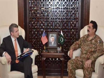 آرمی چیف سے امریکی نمائندے برائے پاکستان و افغانستان کی ملاقات ،اہم امور پر تبادلہ خیال