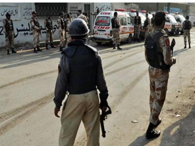 کراچی ،پولیس اور دہشت گردوں میں فائرنگ کا تبادلہ ، ایک دہشت گرد زخمی حالت میں گرفتار