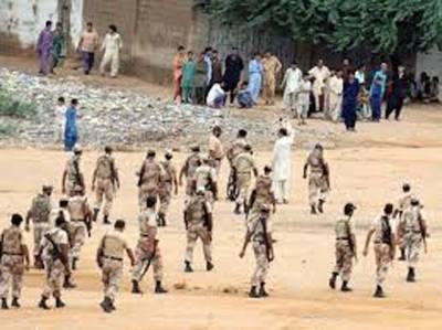 میمن گوٹھ میں رینجرز کے ساتھ مقابلے میں کالعدم بی ایل اے تنظیم کے 8 دہشتگرد ہلاک