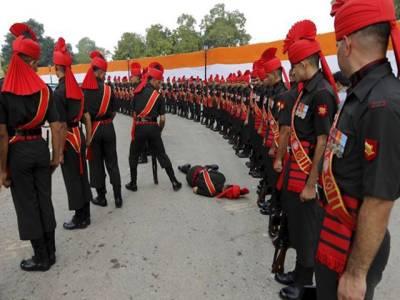 پاک بھارت جنگ کی پچاسویں سالگرہ کی تقریب کے موقع پر بھارتی فوج بے ہوش