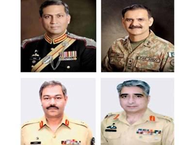 عاصم سلیم باجوہ اور عامر ریاض سمیت پاک فوج کے4میجر جنرلز کو لیفٹیننٹ جنرل کے عہدوں پر ترقی دے دی گئی