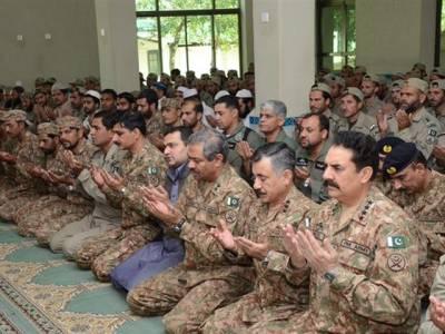آرمی چیف نے عید کی نماز خیبر ایجنسی میں فوجی جوانوں کے ساتھ ادا کی اور جوانوں کے ساتھ وقت گزار ا:آئی ایس پی آر