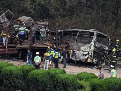 چین میں ٹریفک حادثہ ،22افراد جاں بحق ،13زخمی