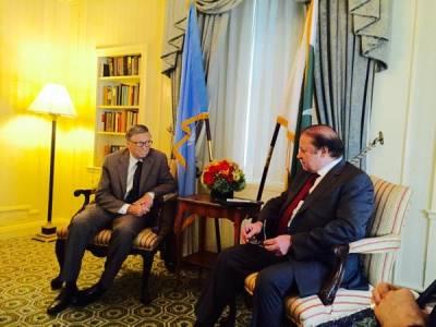 نواز شریف سے بل گیٹس کی ملاقات ،آرمی چیف کی تعریف کر دی