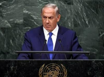 اسرائیلی وزیراعظم کا اقوام متحدہ میں دنیا کے سامنے ڈرامہ
