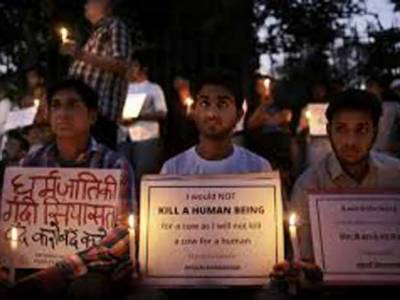 بھارتی وزیر کا گائے کا گوشت کھانے کے الزام میں قتل کئے گئے شہری کا معاملہ اقوام متحدہ میں لے جانے کا اعلان