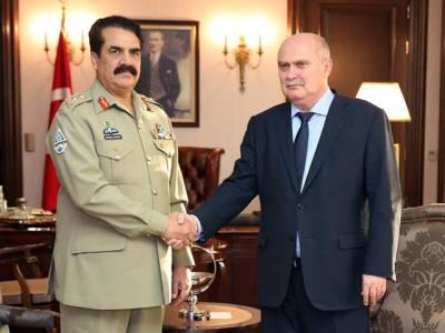 آرمی چیف کی ترک وزیر خارجہ سے ملاقات، وار اکیڈمی کا بھی دورہ کیا
