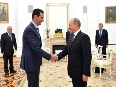 شام کے صدر کے روس میں پرتپاک استقبال پر امریکہ کی شدید مذمت