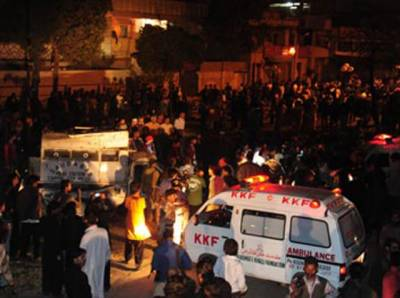 چھلگری کے امام بارگاہ میں خود کش دھماکہ ،11 افراد شہید ،20 زخمی