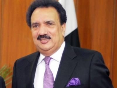 حکومت لال مسجد کے خطیب کے خلاف فوری کارروائی کرے: رحمان ملک