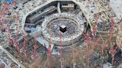 """مسجد الحرام کا توسیعی منصوبہ ، 35000 ہزار محنت کش"""" سعادت""""حاصل کرنے میں مصروف"""