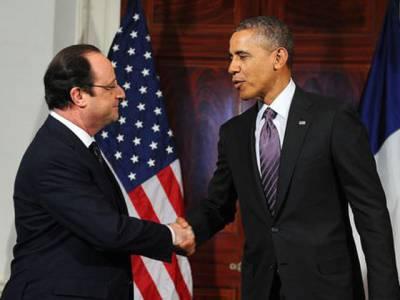 روس شام کے معاملے پر مدد کرے،داعش کو مزید برداشت نہیں کیا جاسکتا، باراک اوبامااور فرانسیسی ہم منصب کی مشترکہ پریس کانفرنس،حملے بڑھانے پر اتفاق