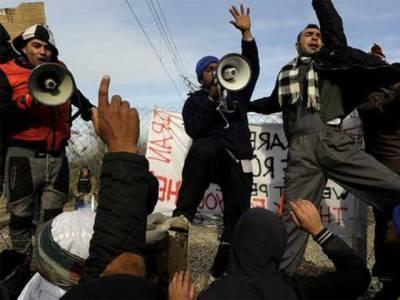مقدونیہ کی سرحد پر سینکڑوں پاکستانیوں کی پولیس کیساتھ جھڑپیں