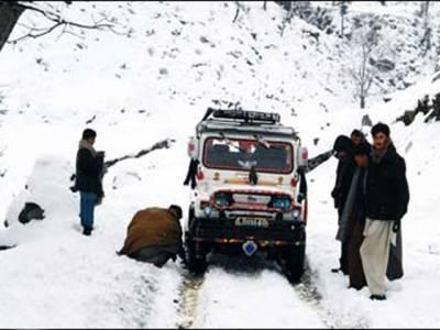گلگت بلتستان کے پہاڑی علاقوں میں وقفے وقفے سے برفباری