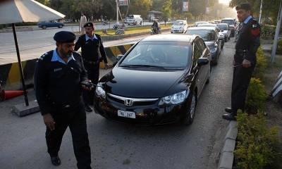 سیکیورٹی خدشات,اسلام آباد میں کالے شیشوں والی گاڑیوں کے داخلے پر پابندی عائد ، پرمٹ منسوخ