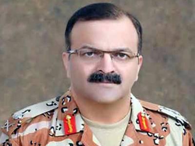 ڈی جی رینجرز سندھ میجر جنرل بلال اکبر کا لانڈھی کے مختلف علاقوں کا دورہ