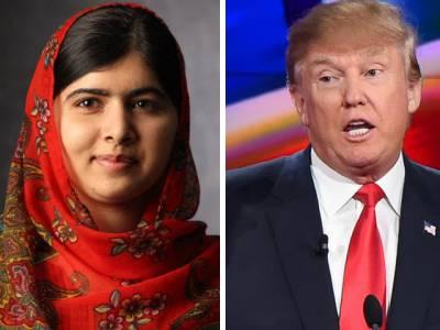 نوبل انعام یافتہ پاکستانی طالبہ ملالہ یوسفزئی کی ڈونلڈ ٹرمپ پرشدید تنقید