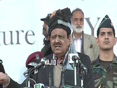 ضرب عضب کامیابی سے جاری ، خیبر سے کراچی تک امن و سکون کی لہر ہے:صدر ممنون حسین