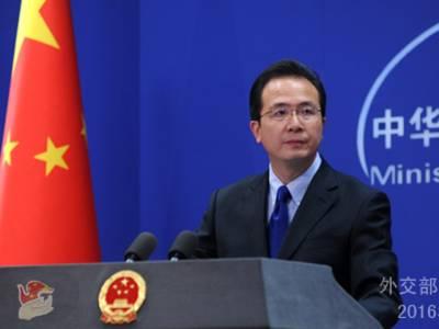 دہشتگردوں کے خلاف پاکستانی کوششوں کی حمایت اورتعاون جاری رکھیں گے:چین
