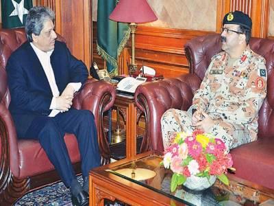 ڈی جی رینجرز کی گورنر سندھ سے ملاقات، امن وامان کی صورتحال پر تبادلہ خیال