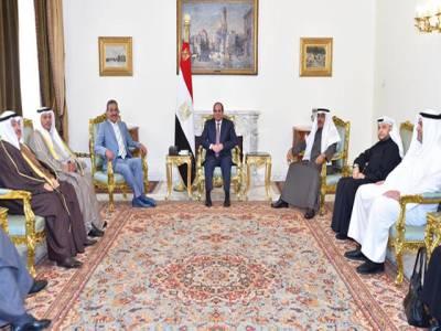 کویتی صحافیوں سے ملاقات، خلیجی بھائیوں کے دفاع کیلئے خون بھی حاضرہے:صدر السیسی