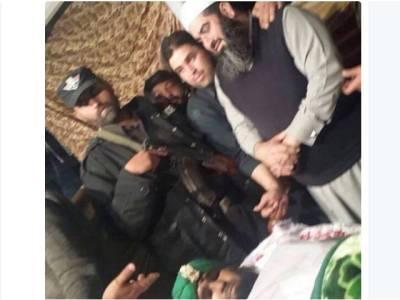 ممتازقادری کی نمازجنازہ، مسلم لیگ ن کے رکن اسمبلی حاجی عمران ظفر بھی پہنچ گئے