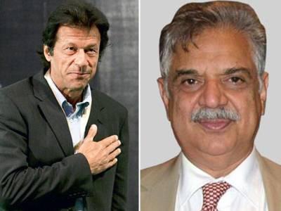 عمران خان کی گورنر ہاﺅس آمد، اقبال ظفر جھگڑا کو گورنر بننے پر مبارکباد