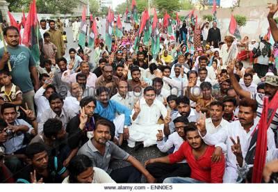 مشرف کو باہر جانے کی جازت دینے کیخلاف پیپلز پارٹی کا ملک گیر احتجاج: گو نواز گو کے نعرے