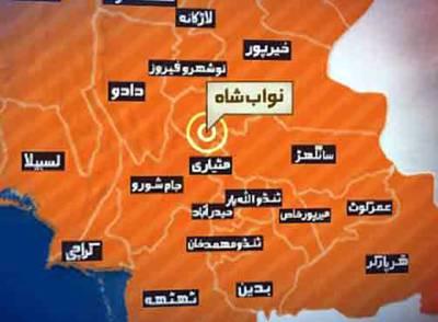 قاضی احمد کے قریب تیز رفتار کار نہر میں گر گئی، 5 افراد جاں بحق