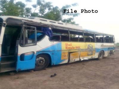 بس اور ٹرالر میں تصادم ، 19مسافر جاں بحق،بس ڈرائیور کیخلاف مقدمہ درج