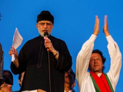 عمران خان کا لندن میں طاہر القادری سے ملاقات کرکے حکومت کےخلاف اعتماد میں لینے کافیصلہ