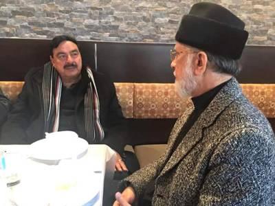 طاہرالقادری کا شیخ رشید کو ٹیلی فون ،موجودہ سیاسی صورتحال پر گفتگو