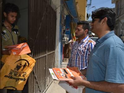 دھاماں سعیداں میں البائراک ویسٹ مینجمنٹ کمپنی کے زیر اہتمام گھر گھر آگاہی مہم کا اہتمام کیا گیا