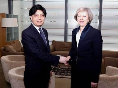 وزیر داخلہ سے برطانوی ہم منصب کی ملاقات، عمران فاروق قتل کیس میں تعاون اور دہشت گردی کیخلاف مشترکہ ٹیم بنانے پر اتفاق