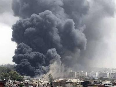 شام کی فضائیہ کی حلب میں بمباری، بچے سمیت25 افراد ہلاک، 40سے زائد زخمی