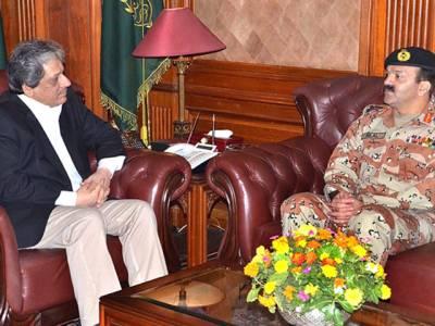 آخری دہشت گرد کے خاتمے تک کراچی آپریشن جاری رہے گا ، گورنر سندھ کی ڈی جی رینجرز سے ملاقا ت میں گفتگو