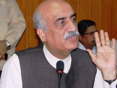 ایاز صادق نے اپوزیشن کو راضی کر لیا ،اب پارلیمنٹ کے فلو پر احتجاج کریں گے:خورشید شاہ