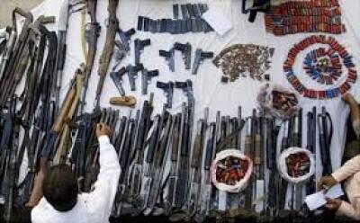 ژوب میں سیکیورٹی فورسز نے کارروائی کر کے بڑی تعداد میں اسلحہ و گولہ بارود بر آمد کر لیا